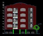 دانلود-پلان-ساختمان-4-طبقه-در-اتوکد-autocad